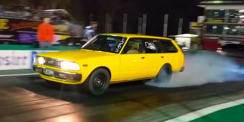 This 1JZ Corona Wagon Runs 8s in the Quarter-Mile