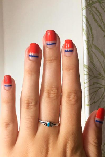 Nail polish, Nail, Finger, Manicure, Nail care, Red, Cosmetics, Hand, Beauty, Skin,