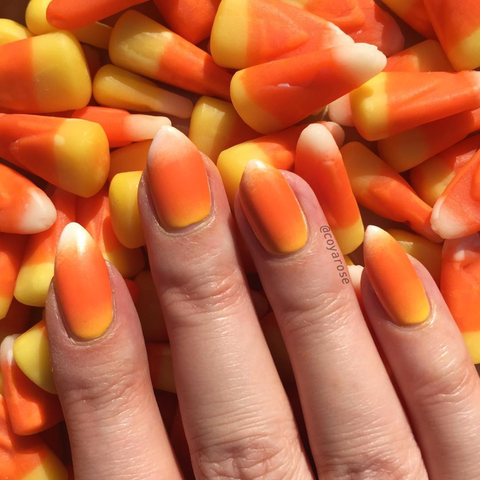 Candy-themed nail Art - 21 Halloween Nail Art Ideas 2018 - Cute Nail Designs For Halloween