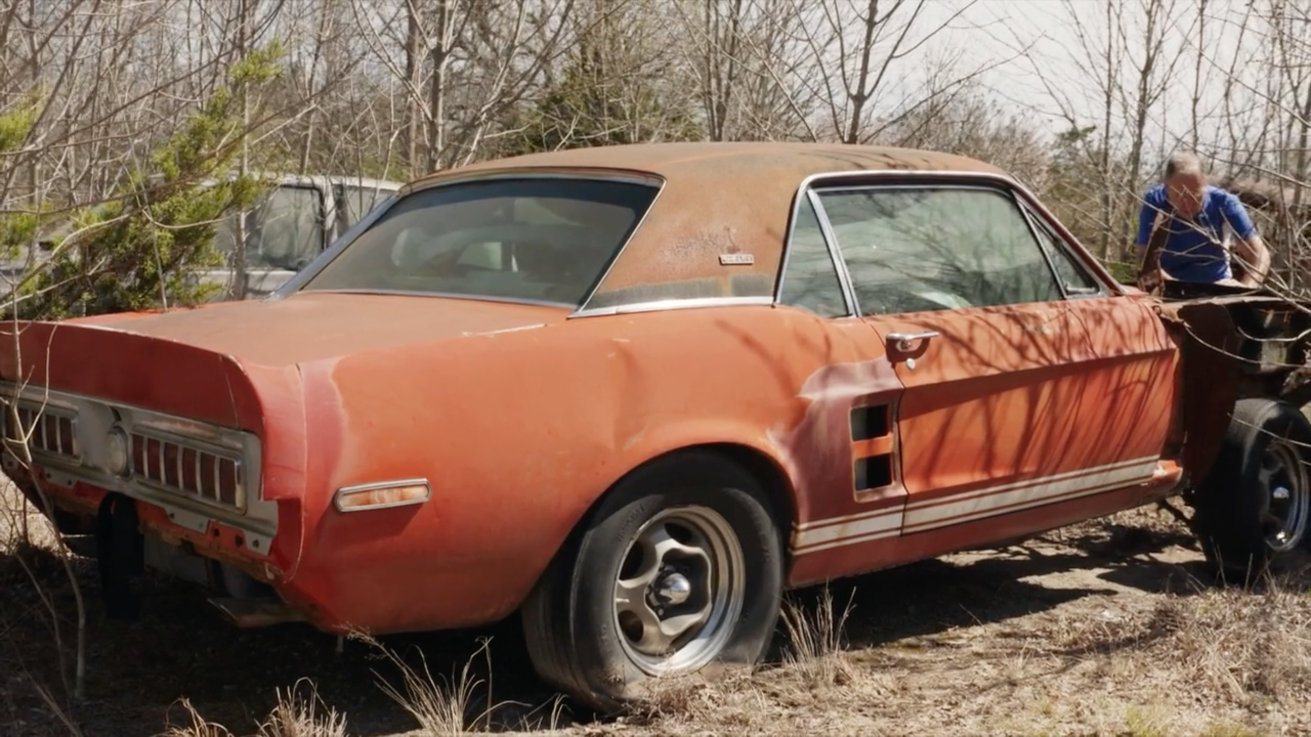 A lost piece of shelby mustang history was discovered in a texas field