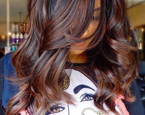 Hair, Brown hair, Hair coloring, Hairstyle, Blond, Layered hair, Long hair, Brown, Beauty, Chin,