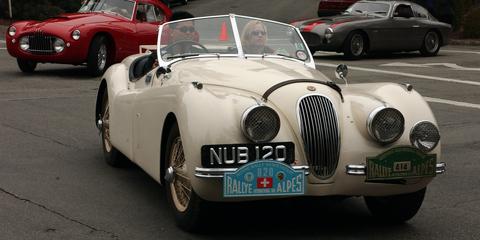 Land vehicle, Vehicle, Car, Classic car, Antique car, Classic, Motor vehicle, Coupé, Sports car, Jaguar xk150,