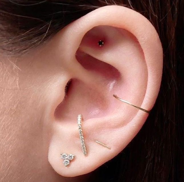 Ear Piercings Multiple Inspiration For Curating Your Constellation