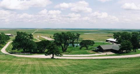 Land lot, Property, Sport venue, Natural landscape, Grassland, Plain, Sky, Grass, Tree, Rural area,
