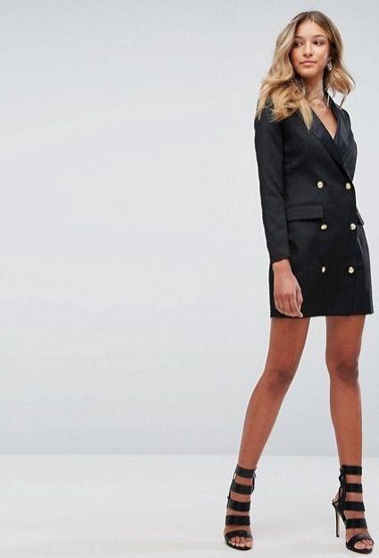 Black tux dress ASOS