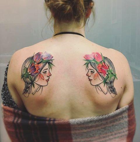Watercolour Fairytale Tattoo Ideas