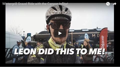 Vlogger Bruno Bobbink deed mee aan de Wintergrill Gravel Ride