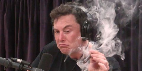 Elon Musk weed joint