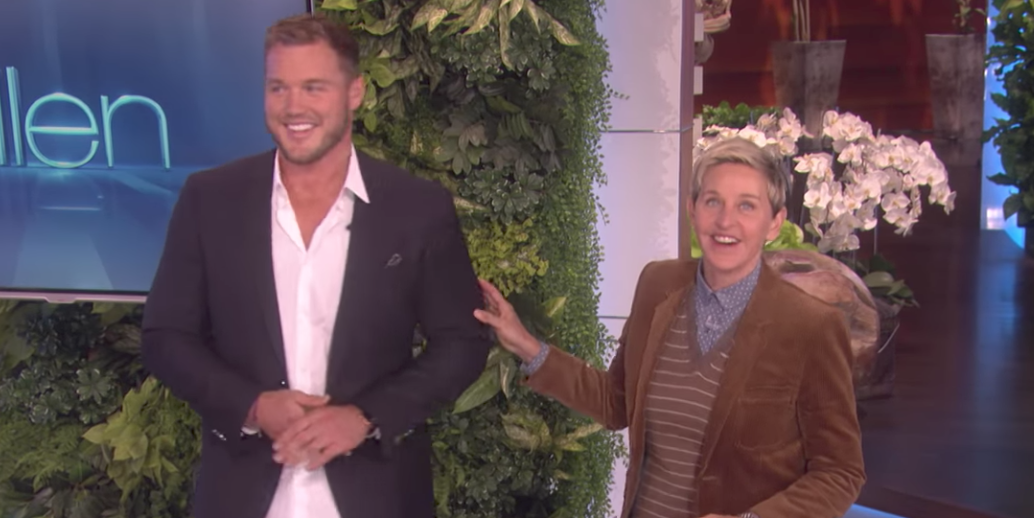 "Colton Underwood on ""The Ellen DeGeneres Show"""