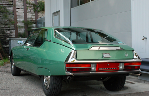 This Perfectly Retro Green On Green Citroen Sm Can Be Your Perfect