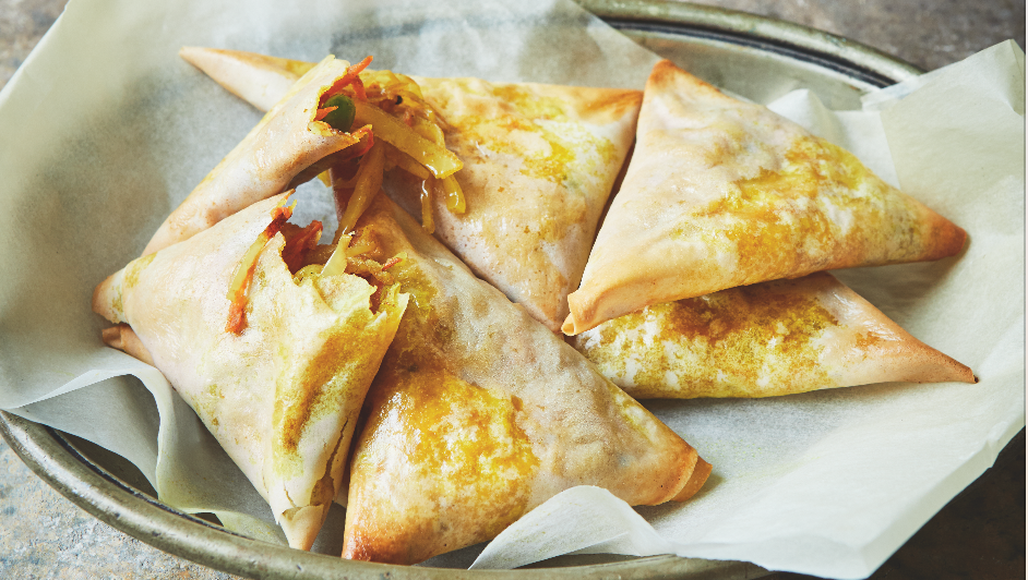 Try these veggie samosas from the Together cookbook Meghan's helped launch