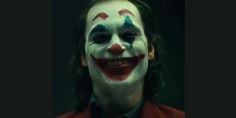 Face, Clown, Joker, Facial expression, Head, Supervillain, Performing arts, Smile, Nose, Fictional character,
