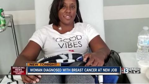 Danita Harris was diagnosed with aggressive breast cancer after starting a job as a surgery scheduler at a hospital