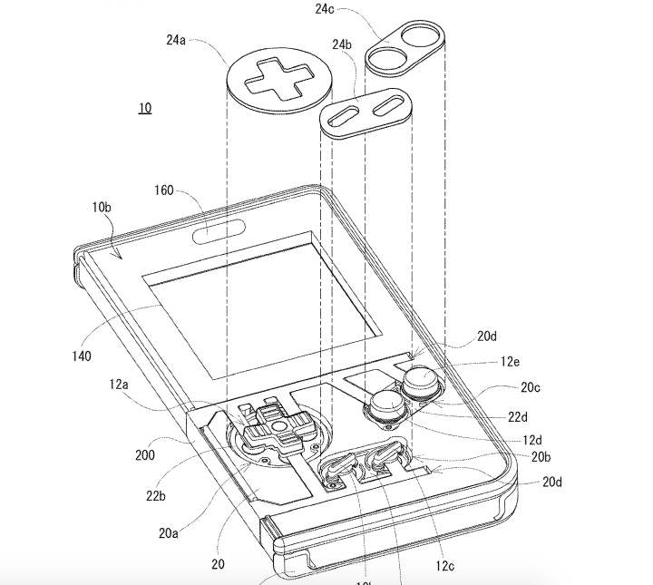 nintendo phone cover patent electronics