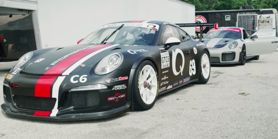 Here's How a 700-HP GT2 RS Stacks Up Against a 485-HP GT3 Cup Race Car on Track