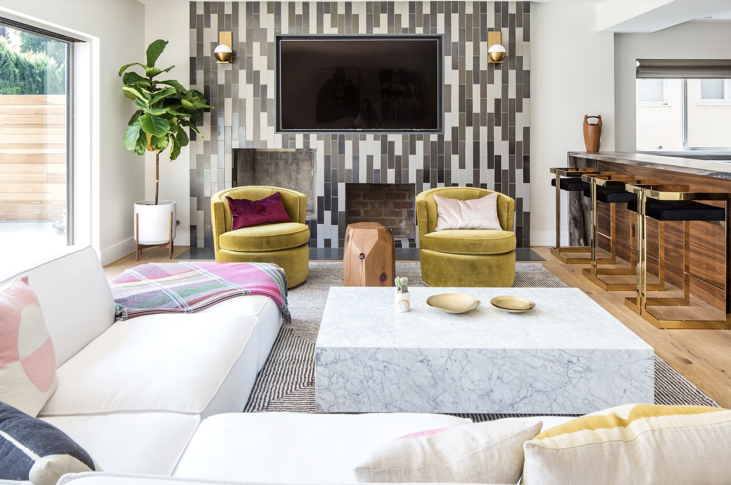 Courtesy of Veneer Designs & 30 Family Room Design Ideas - Decorating Tips for Family Rooms