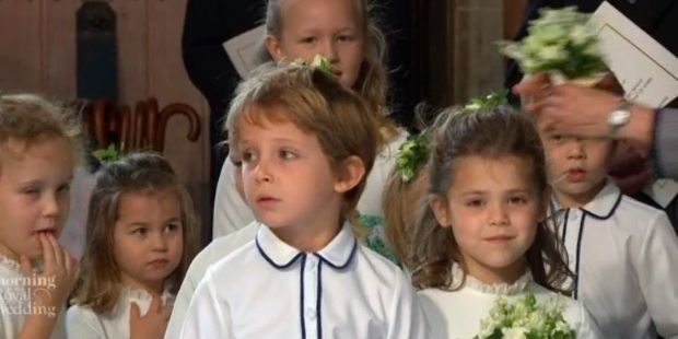 Prince George and Princess Charlotte at Princess Eugenie's Wedding