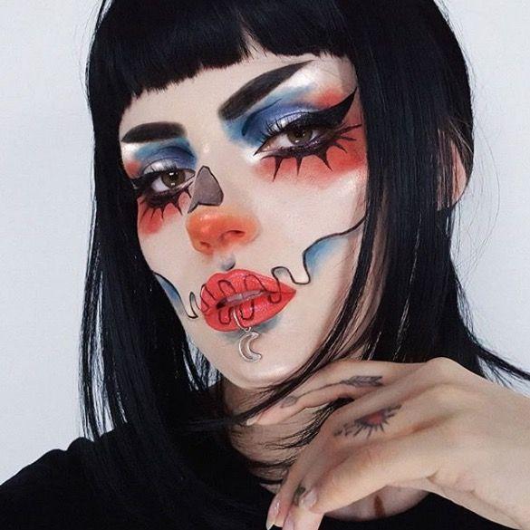 ► Maquillajes para Halloween  → 50 Ideas  - Maquillaje Instagram