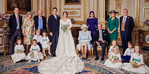Princes Eugenie And Jack Brooksbank With Their Families See Princess Official Wedding Photos