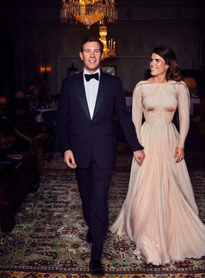 7cedc7244c7 Princess Eugenie chose Zac Posen for her private wedding dinner - Princess  Eugenie wedding dress