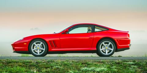 Land vehicle, Vehicle, Car, Sports car, Ferrari 575m maranello, Ferrari 550, Ferrari 550 maranello, Alloy wheel, Performance car, Supercar,
