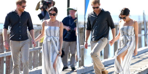 16046cf2cb Meghan Markle Wears Dress with Thigh Slit - Meghan Markle Reformation Thigh  Slit Dress