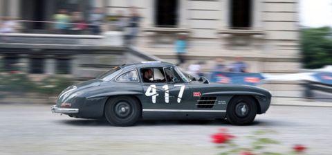 Land vehicle, Vehicle, Car, Regularity rally, Coupé, Classic car, Sports car, Mercedes-benz, Mercedes-benz 300sl, Sedan,
