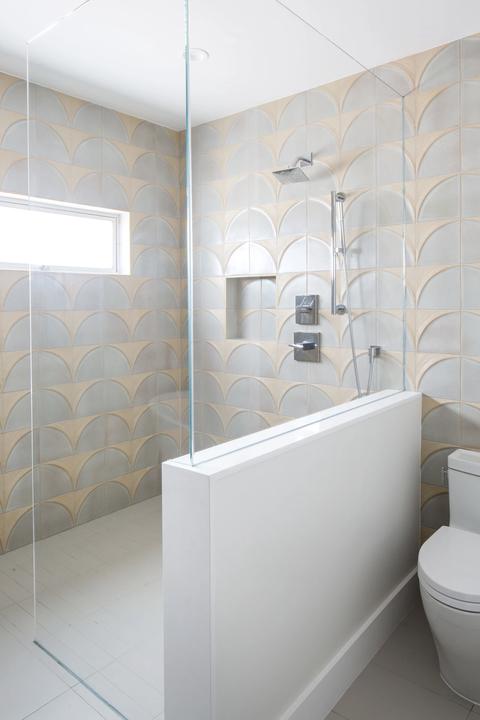 Bathroom, Room, Property, Tile, Interior design, Floor, Wall, Architecture, Plumbing fixture, Ceramic,
