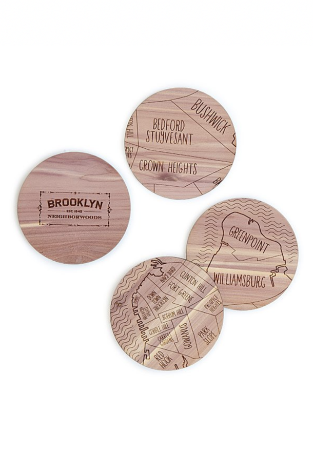 Travel gifts for her - Neighborwoods Map Coasters