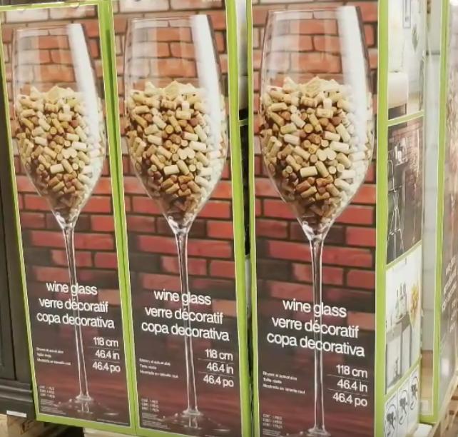 Costco S 46 Inch Tall Wine Glass, Jumbo Wine Glass Costco