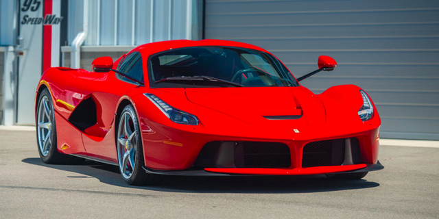 Red FERRARI LaFerrari