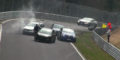 2018 Nurburgring Crash Compilation Videos Road Track