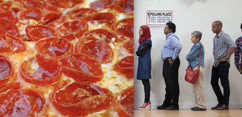 Pizza, Food, Pepperoni, Dish, Cuisine, Ingredient, Italian food, Meat, Junk food, Recipe,