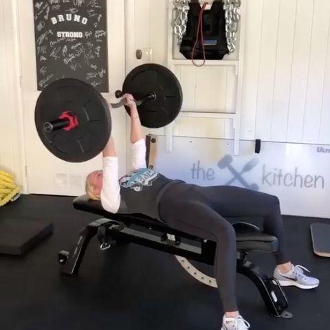 Chelsea Handler Bench Press