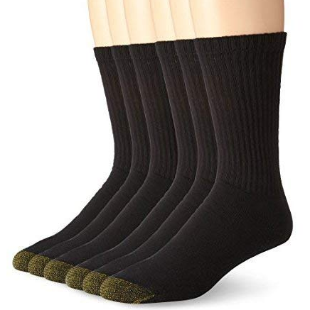 These Premium Cotton Stretch Crew Socks Are Only 12 for $12