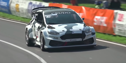 This Ford Fiesta Uses a 500-HP Cosworth Engine to Dominate Hillclimbs