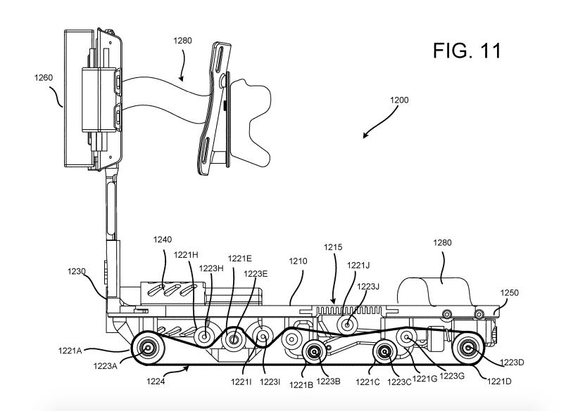 google mechanical vr rollerskate sideview
