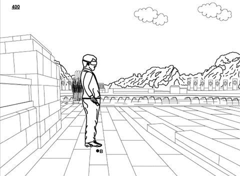 Google mechanical sneaker vr rollerskate drawing