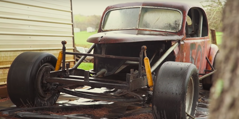 Land vehicle, Vehicle, Car, Motor vehicle, Chassis, Classic car, Vintage car, Rust, Hot rod,