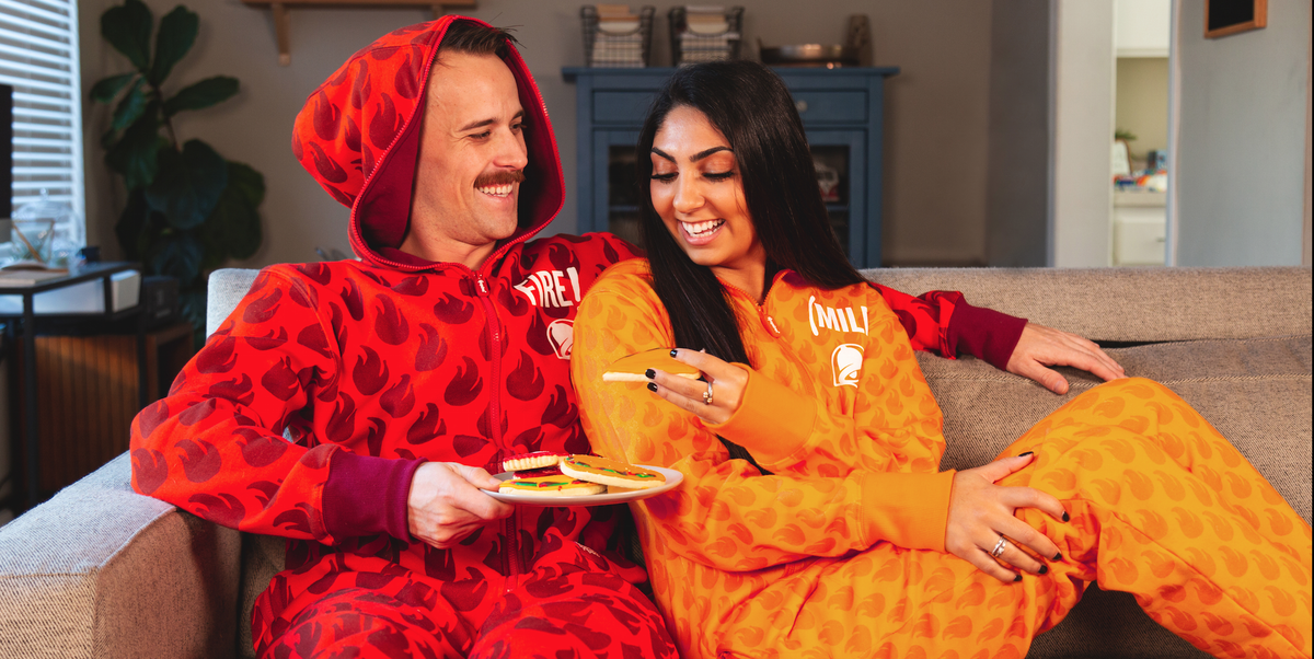 4b68741041f Taco Bell s Holiday Collection Includes Hot Sauce Onesies - Taco Bell  Holiday Collection 2018