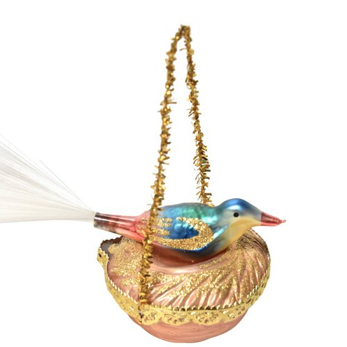 vintage birds nest ornament