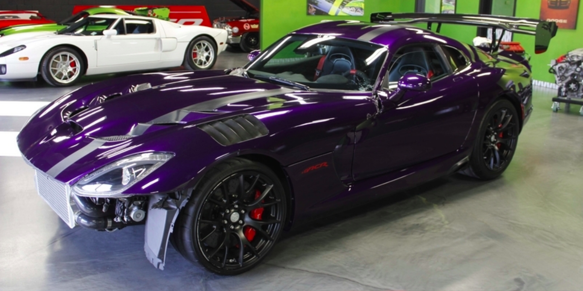 Dodge Viper For Sale >> Salvage-Title Twin-Turbo Viper ACR Is for Sale - Wrecked ...
