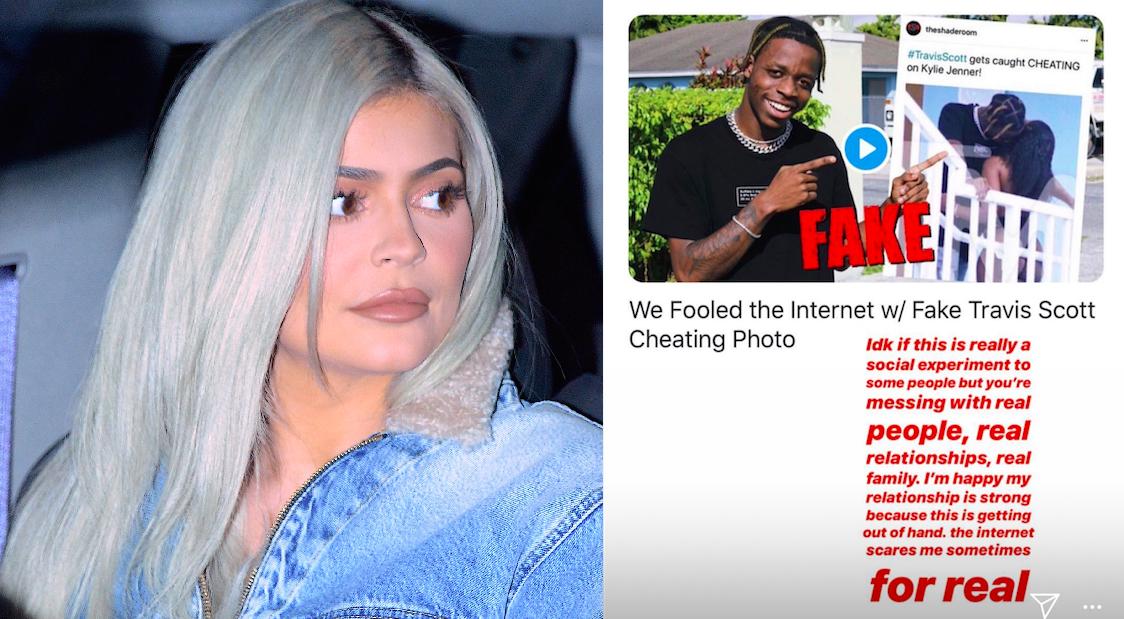 86bd47b392cf Kylie Jenner Responds Fake Travis Scott Cheating Prank - Kim Kardashian  Khloe Kardashian Respond Fake Travis Scott Cheating Prank