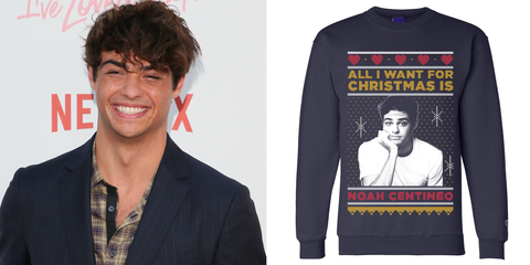 noah centineo ugly christmas sweater