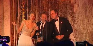 We are very confused by this resurfaced video of Prince William and Taylor Swift singing Bon Jovi