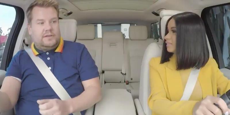 Cardi B Crashed a Car During 'Carpool Karaoke' with James Corden