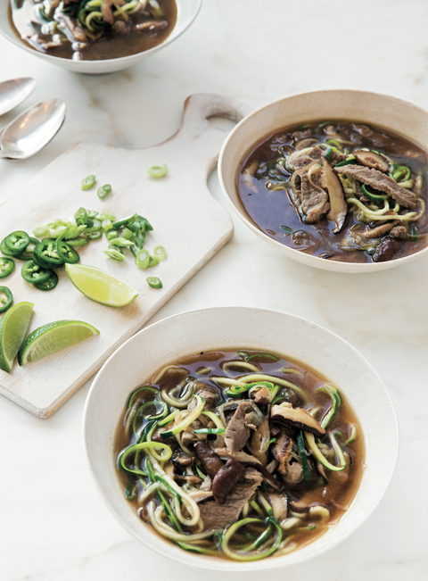 whole30 asian beef zoodle soup