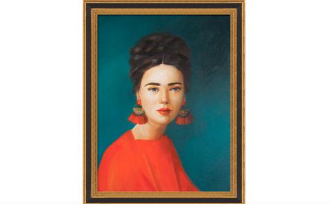 Painting, Art, Portrait, Cheek, Modern art, Picture frame, Forehead, Visual arts, Artist, Art gallery,