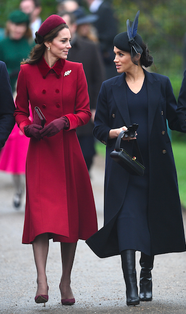 Meghan Markle Christmas.Kate Middleton And Meghan Markle S Body Language On