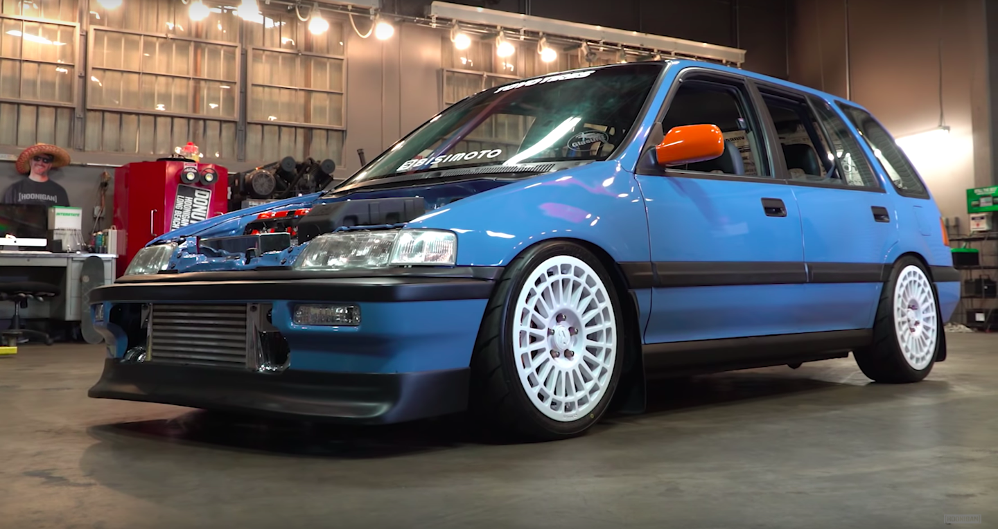 This Is a 1000-HP All-Wheel Drive Civic Wagon